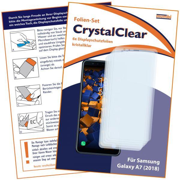 Displayschutzfolie 6 Stck. CrystalClear für Samsung Galaxy A7 (2018)