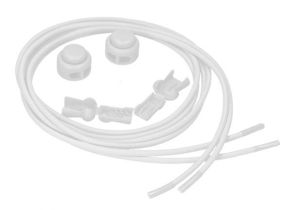 Elastische Schnürsenkel mit Schnellspanner in Weiß