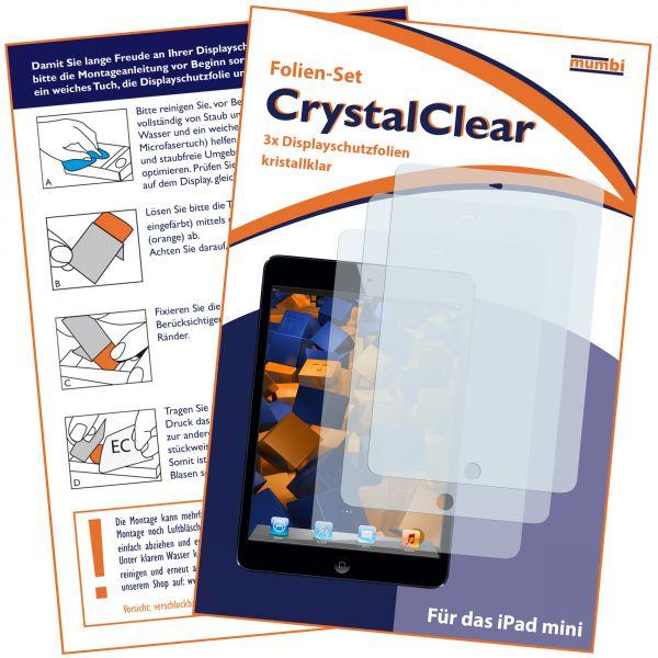 Displayschutzfolie 3 Stück. CrystalClear für Apple iPad Mini / iPad Mini 2 / iPad Mini 3