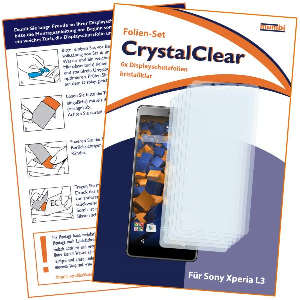 Displayschutzfolie 6 Stck. CrystalClear für Sony Xperia L3