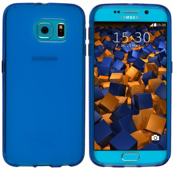 TPU Hülle (Slim - 1.2 mm) transparent blau für Samsung Galaxy S6 / S6 Duos