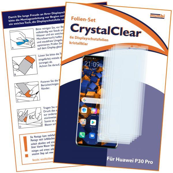Displayschutzfolie 6 Stck. CrystalClear für Huawei P30 Pro
