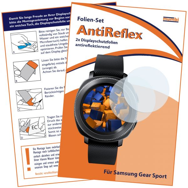 Displayschutzfolie 2 Stck. AntiReflex für Samsung Gear Sport