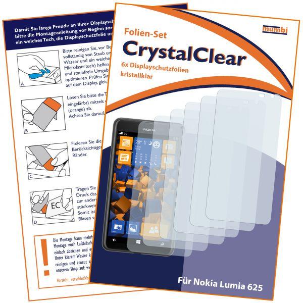 Displayschutzfolie 6 Stck. CrystalClear für Nokia Lumia 625