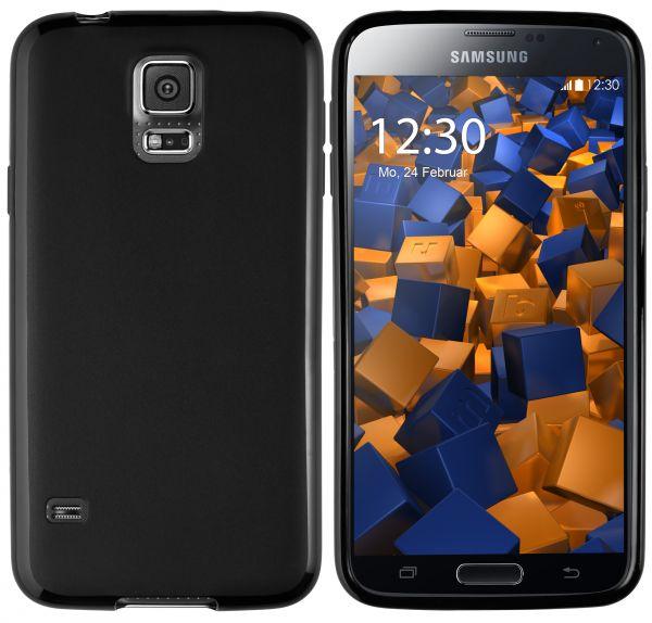 TPU Hülle schwarz für Samsung Galaxy S5 / S5 Neo