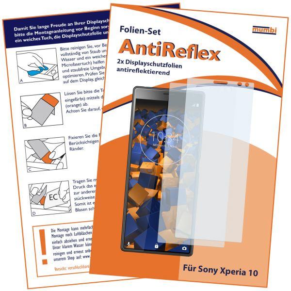 Displayschutzfolie 2 Stck. AntiReflex für Sony Xperia 10