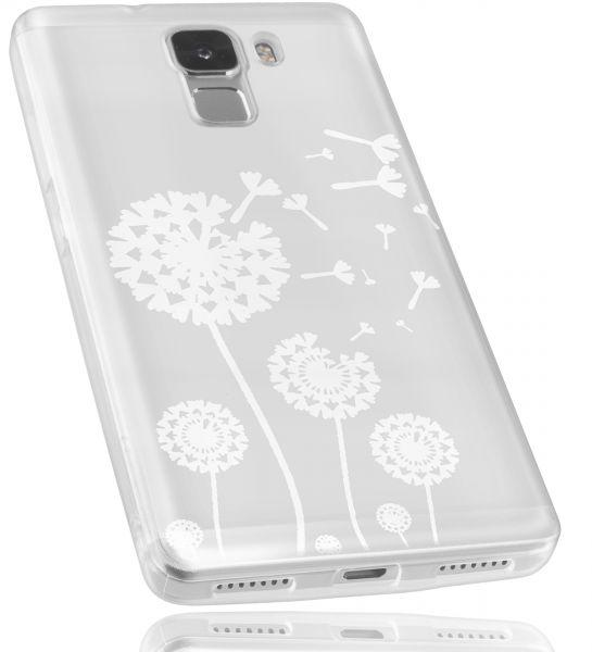 TPU Hülle transparent Motiv Pusteblume für Huawei Honor 7