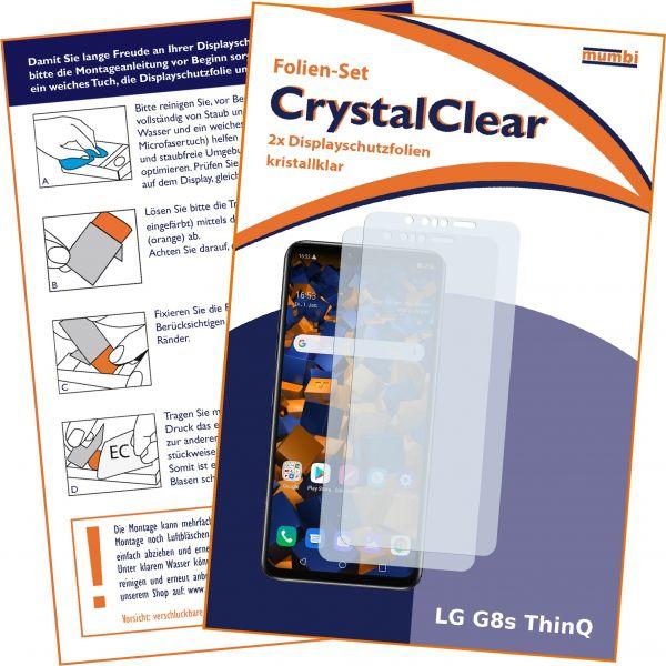 Displayschutzfolie 2 Stck. CrystalClear für LG G8s ThinQ