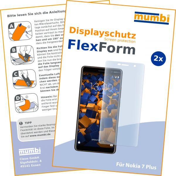 Displayschutzfolie 2 Stck. FlexForm für Nokia 7 Plus