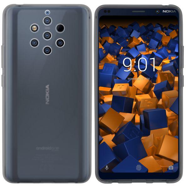 TPU Hülle schwarz transparent für Nokia 9 PureView