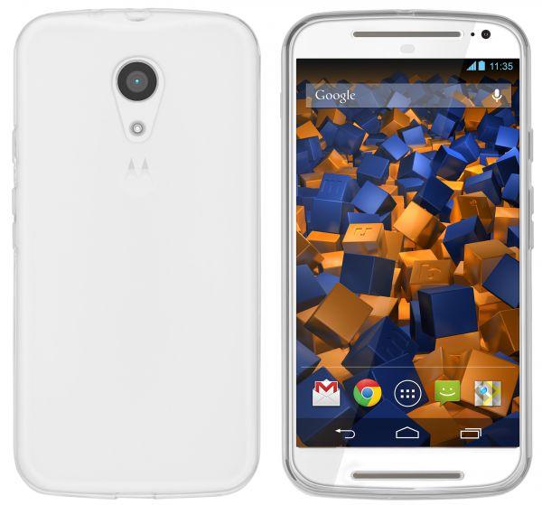TPU Hülle weiß transparent für Motorola Moto G 2. Generation