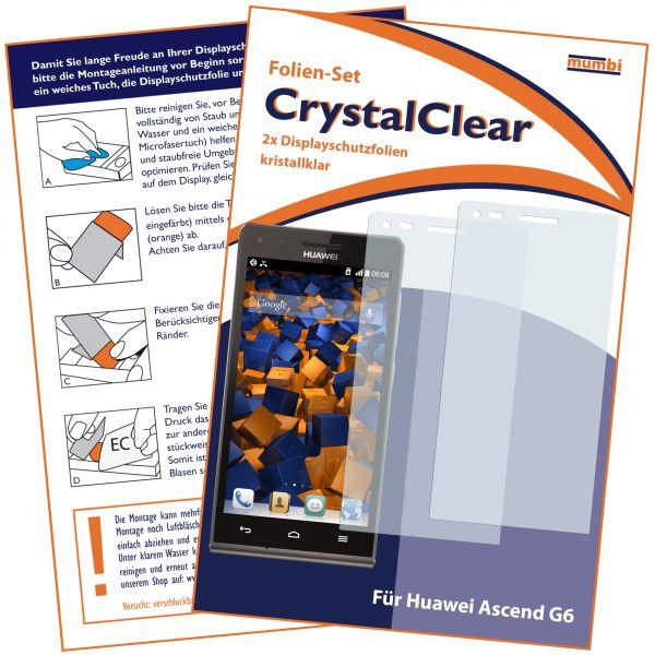 Displayschutzfolie 2 Stck. CrystalClear für Huawei Ascend G6