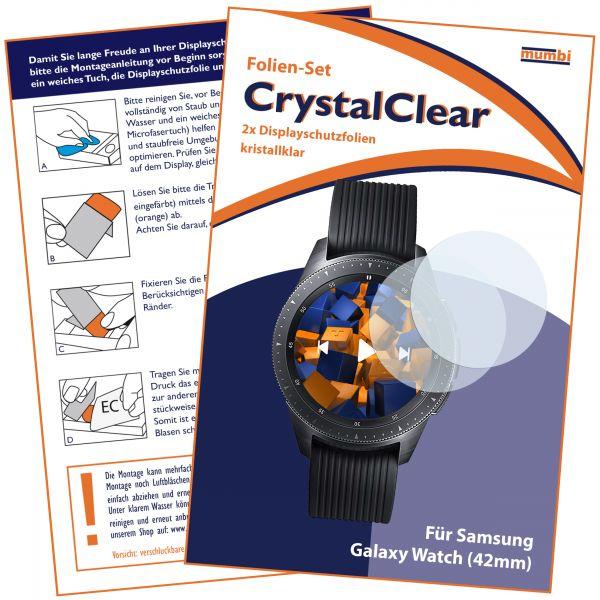 Displayschutzfolie 2 Stck. CrystalClear für Samsung Galaxy Watch (42mm)