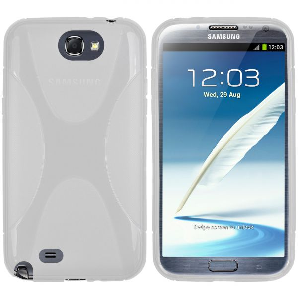 TPU Hülle X-Design weiß transparent für Samsung Galaxy Note 2