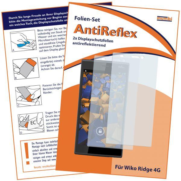 Displayschutzfolie 2 Stck. AntiReflex für Wiko Ridge 4G