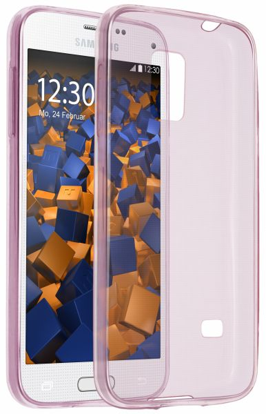 TPU Hülle Ultra Slim rosa transparent für Samsung Galaxy S5 mini