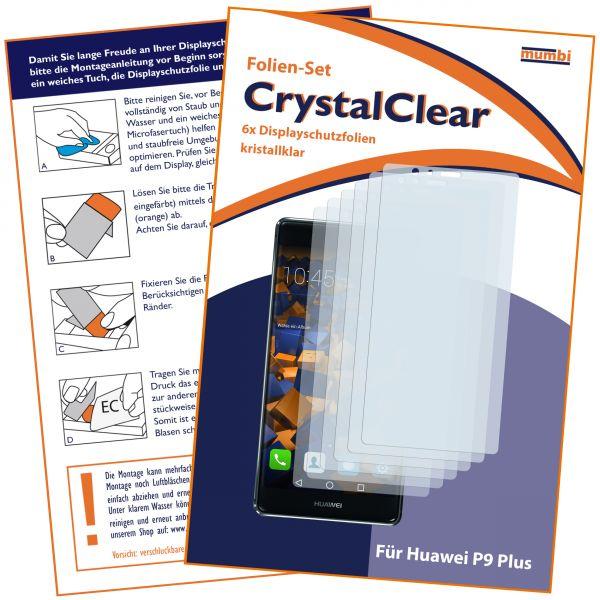 Displayschutzfolie 6 Stck. CrystalClear für Huawei P9 Plus