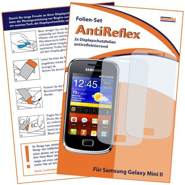 Displayschutzfolie 2 Stck. AntiReflex für Samsung Galaxy Mini 2
