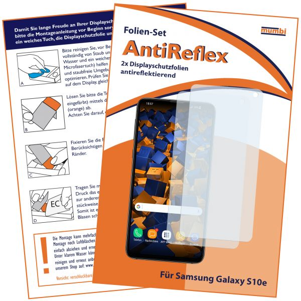 Displayschutzfolie 2 Stck. AntiReflex für Samsung Galaxy S10e