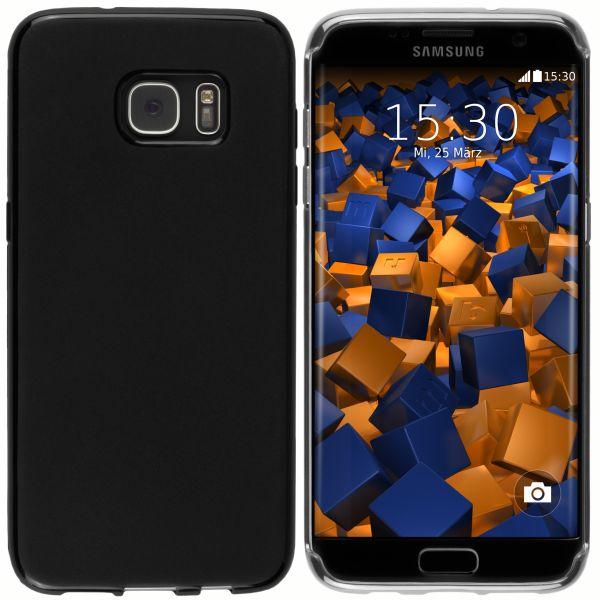 TPU Hülle schwarz für Samsung Galaxy S7 Edge