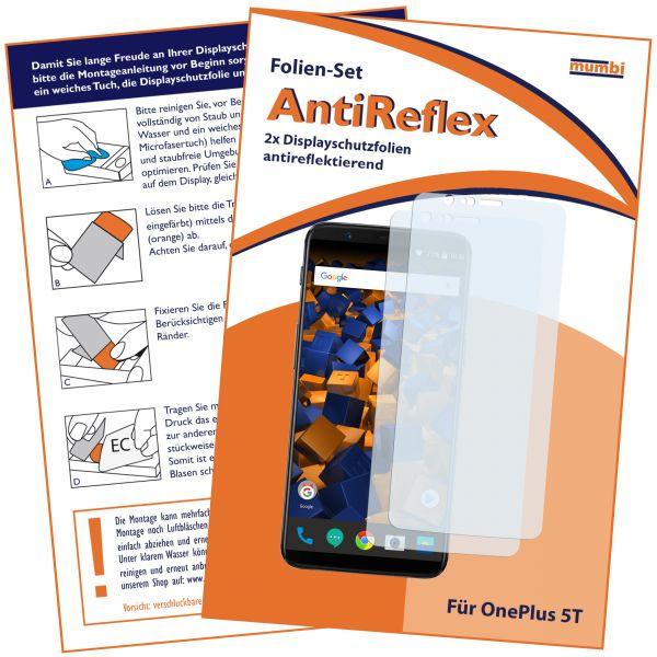 Displayschutzfolie 2 Stck. AntiReflex für OnePlus 5T