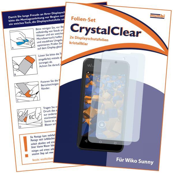 Displayschutzfolie 2 Stck. CrystalClear für Wiko Sunny