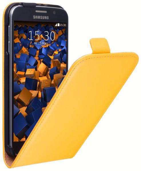 Flip Case Tasche gelb für Samsung Galaxy S6 / S6 Duos