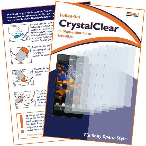 Displayschutzfolie 6 Stck. CrystalClear für Sony Xperia Style