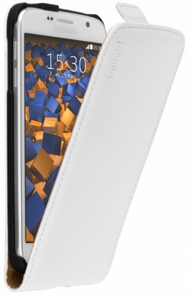 Flip Case Ledertasche weiß für Samsung Galaxy S6 / S6 Duos