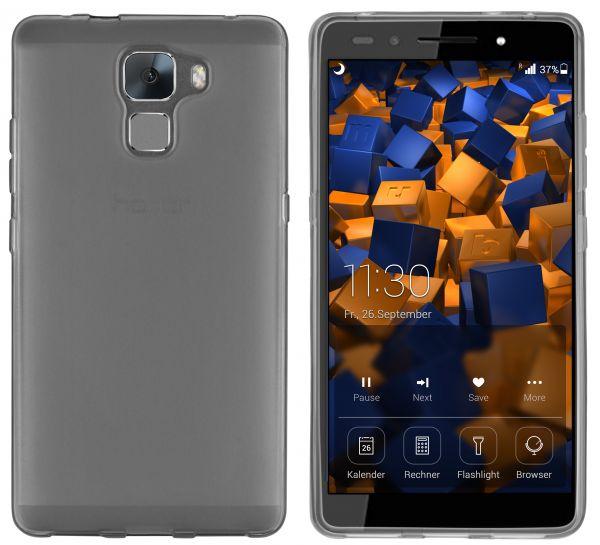 TPU Hülle schwarz transparent für Huawei Honor 7 / Honor 7 Premium