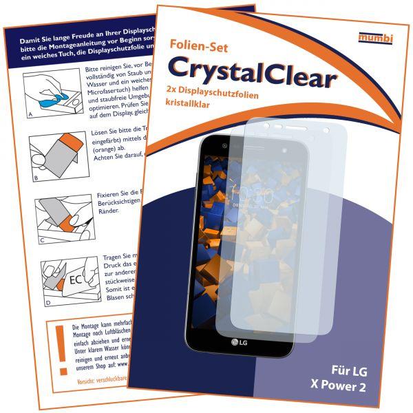 Displayschutzfolie 2 Stck. CrystalClear für LG X Power 2