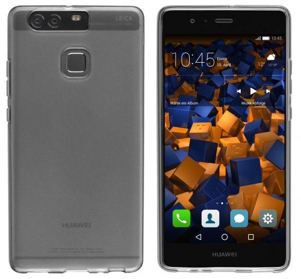 TPU Hülle schwarz transparent für Huawei P9
