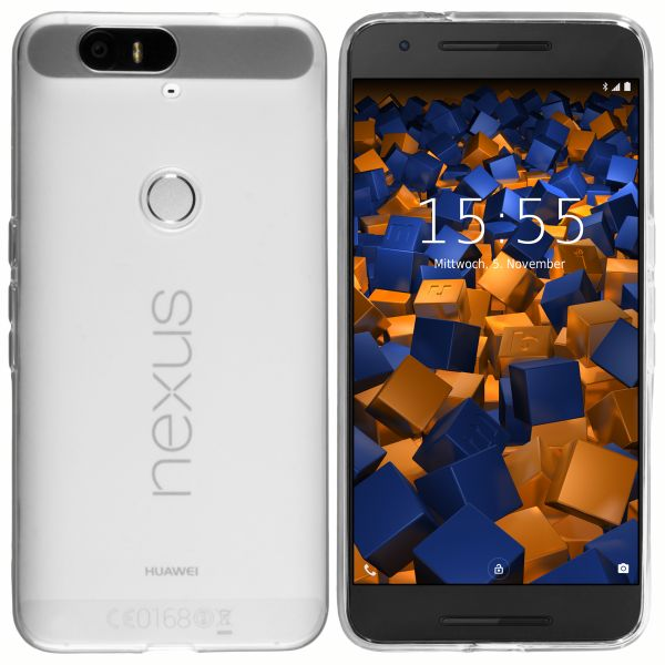 TPU Hülle weiß transparent für Huawei Google Nexus 6P