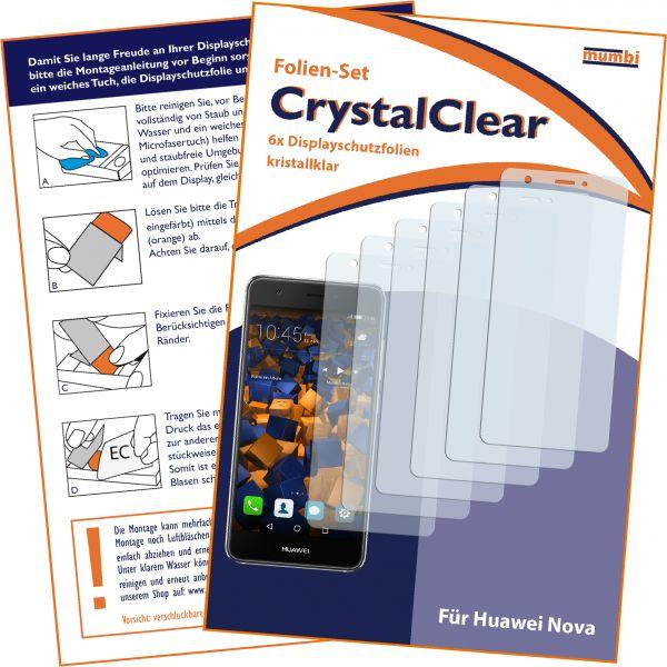 Displayschutzfolie 6 Stck. CrystalClear für Huawei Nova