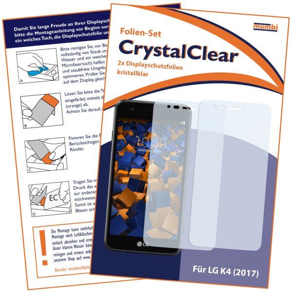 Displayschutzfolie 2 Stck. CrystalClear für LG K4 (2017)