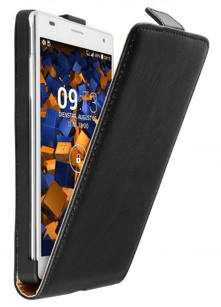 Flip Case Ledertasche schwarz für LG P880 Optimus 4X HD