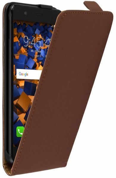 Flip Case Tasche braun für Huawei P10