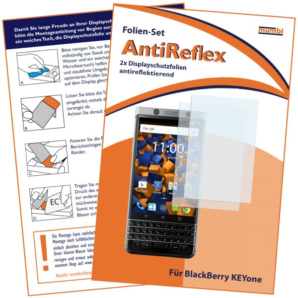 Displayschutzfolie 2 Stck. AntiReflex für Blackberry KEYone