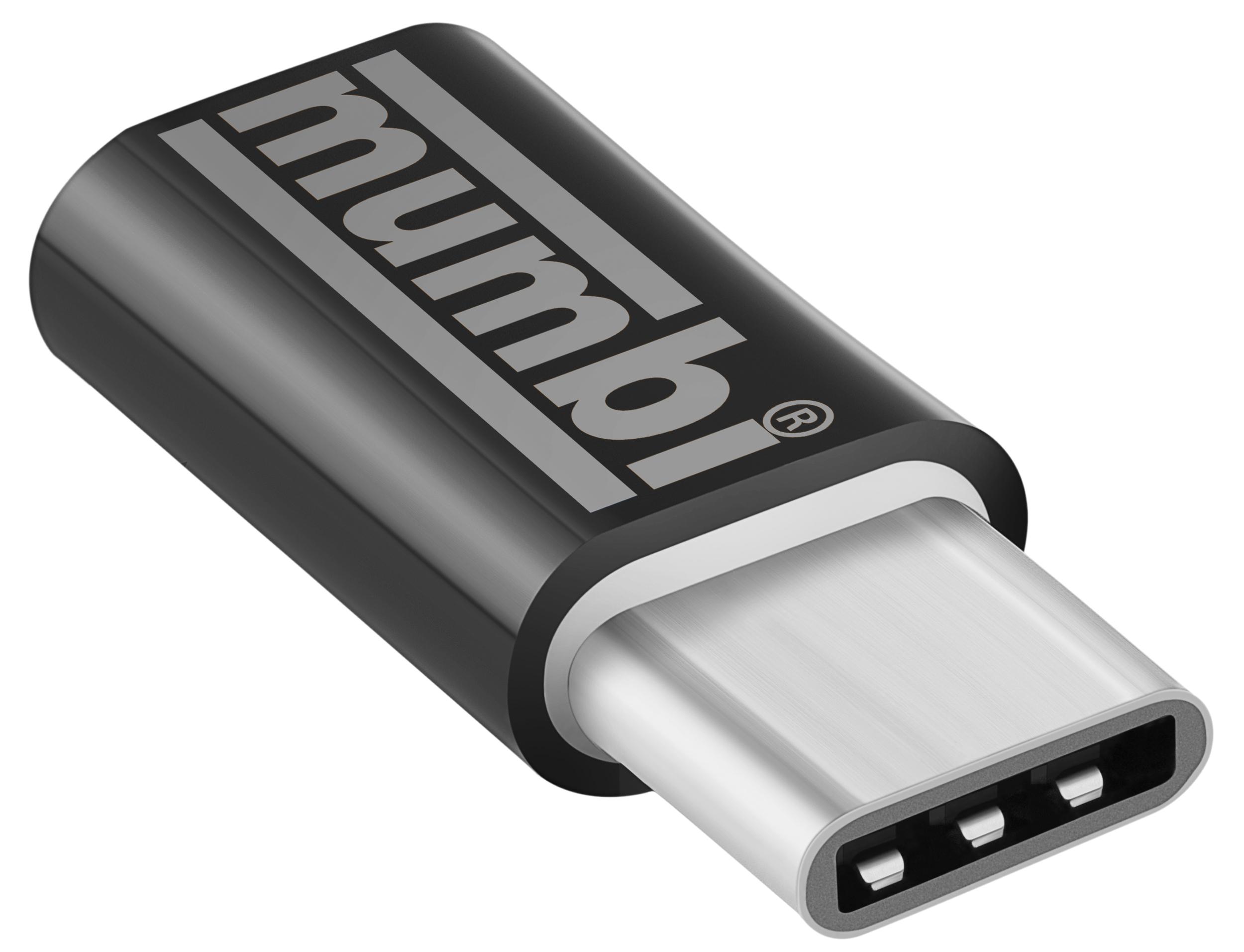 Adapter Schwarz Usb 31 Typ C Stecker Auf Micro Usb Buchse