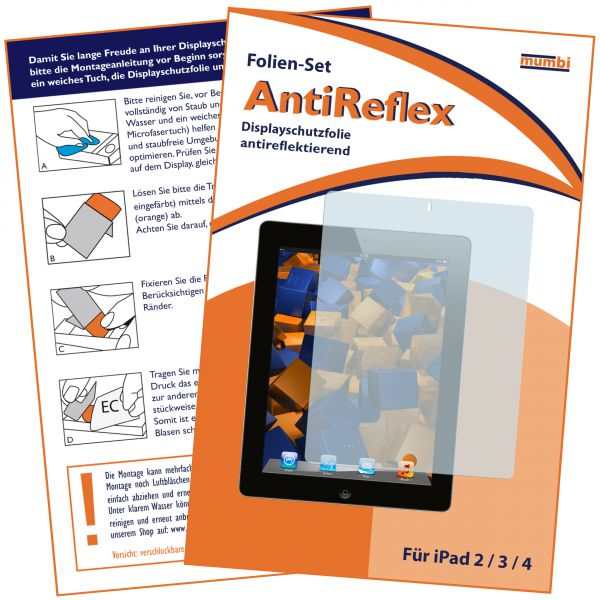 Displayschutzfolie AntiReflex für Apple iPad 2 / iPad 3 / iPad 4