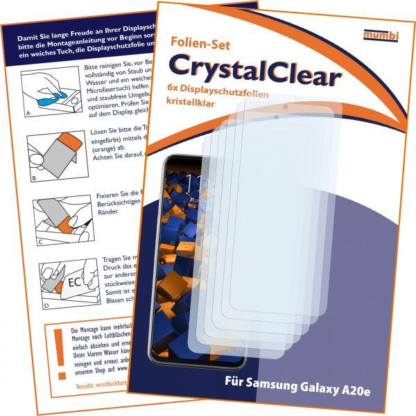 Displayschutzfolie 6 Stck. CrystalClear für Samsung Galaxy A20e