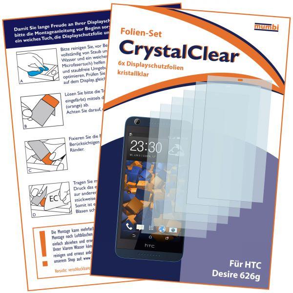 Displayschutzfolie 6 Stck. CrystalClear für HTC Desire 626G