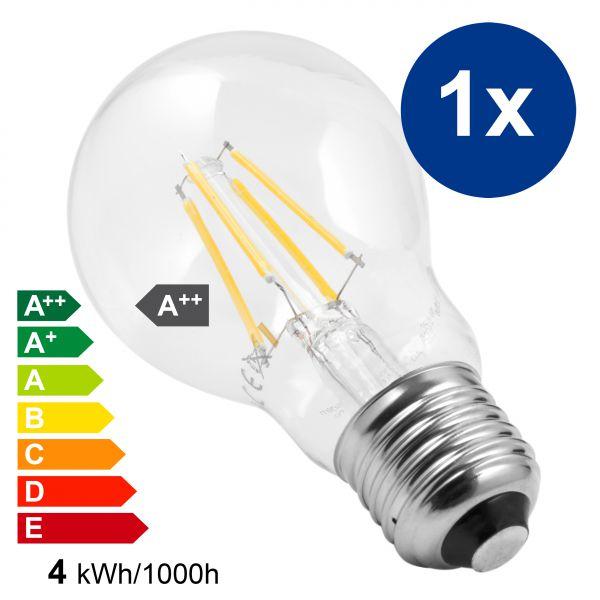 XQLite LED Lampe E27 4W 2700 Kelvin warmweiß 450 Lumen Energieklasse A++