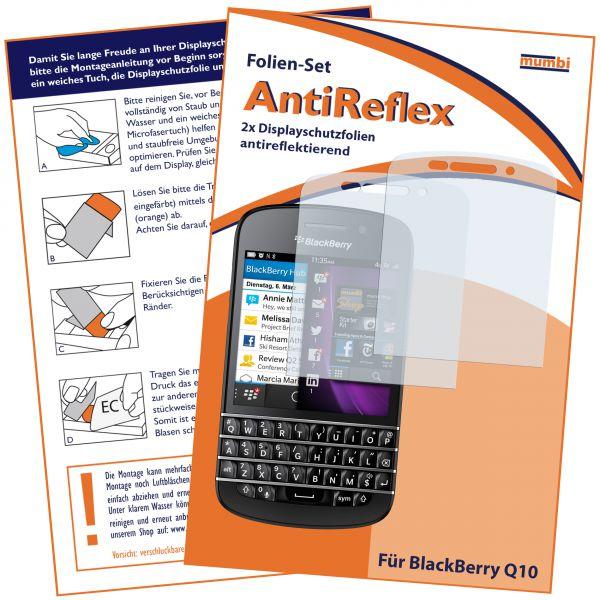 Displayschutzfolie 2 Stck. AntiReflex für BlackBerry Q10