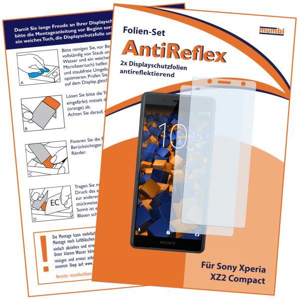 Displayschutzfolie 2 Stck. AntiReflex für Sony Xperia XZ2 Compact