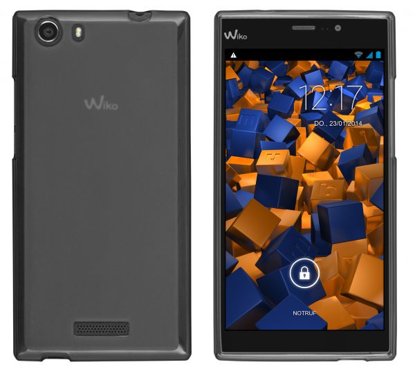 TPU Hülle schwarz transparent für Wiko RIDGE 4G