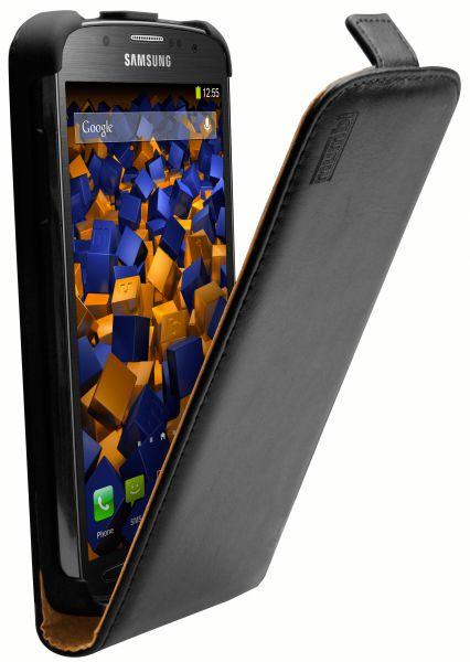Flip Case Ledertasche schwarz für Samsung Galaxy S4 Active