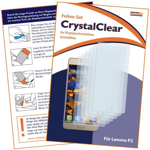 Displayschutzfolie 6 Stck. CrystalClear für Lenovo P2