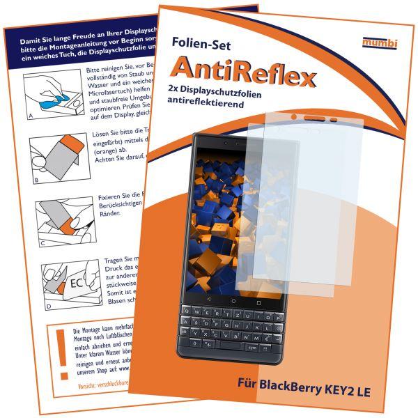 Displayschutzfolie 2 Stck. AntiReflex für Blackberry KEY2 LE