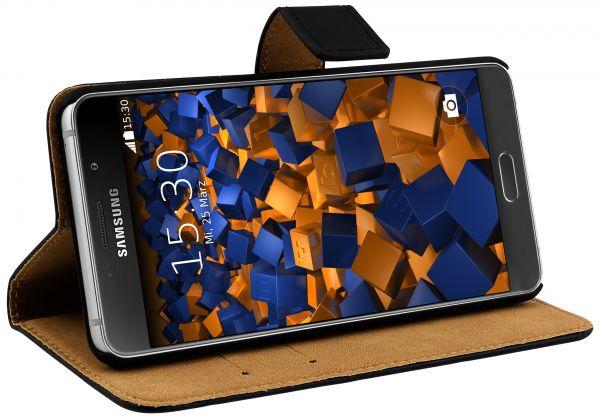 Bookstyle Ledertasche schwarz für Samsung Galaxy A5 (2016)